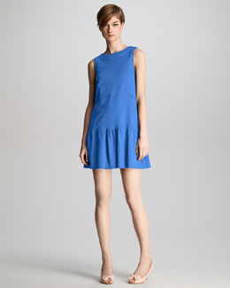 RED Valentino Wave-Stitch Ponte Shift Dress