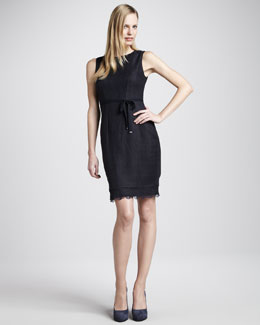 Elie Tahari Emory Lace-Hem Dress