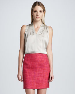 Elie Tahari Alexis Tweed Skirt