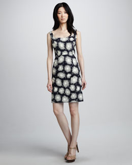 Milly Sydie Printed Sleeveless Dress