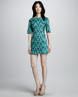 Milly Carina Printed Twill Dress