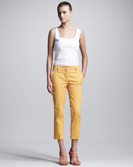 Philosophy di Alberta Ferretti Stretch-Gabardine Cropped Pants