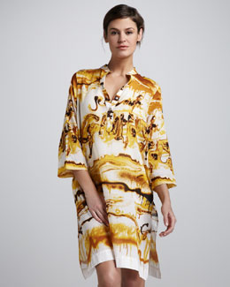 Jean Paul Gaultier Printed Tunic Coverup