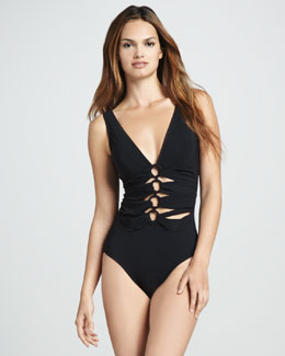 Karla Colletto Ring-Front One-Piece