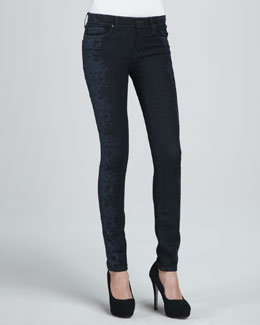 MARC by Marc Jacobs Gaia Floral-Side Skinny Jeans