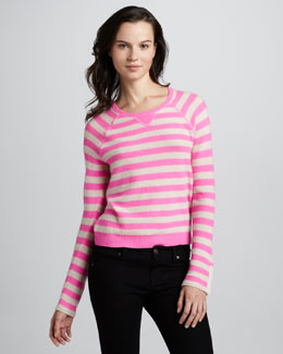 Rebecca Taylor Striped Cashmere Sweater