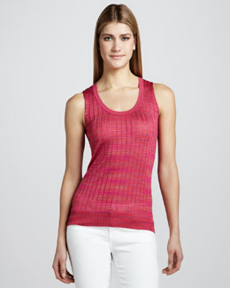 M Missoni Space-Dye Ribbed Tank