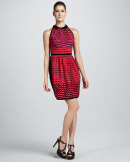 M Missoni Diamond-Stripe Colorblock Dress