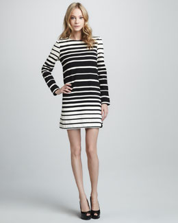 Tibi Striped Long-Sleeve Dress
