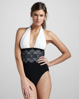 Gottex Lace-Panel One-Piece Swimsuit