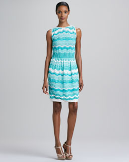M Missoni Zigzag Wave Stripe Dress