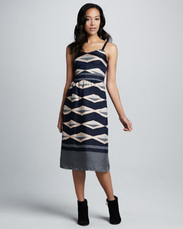 MARC by Marc Jacobs Hayley Striped Satin Dress