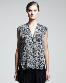 Helmut Lang Burnout Medallion-Print Shirt