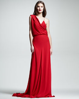 Wes Gordon Draped Chiffon Gown