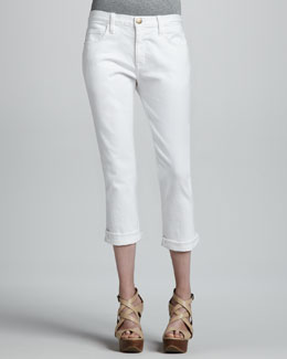 Current/Elliott The Boyfriend Cropped Jeans, Sugar