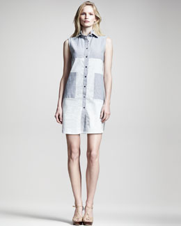 10 Crosby Derek Lam Sleeveless Seersucker Shirtdress