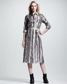 10 Crosby Derek Lam Lizard-Print Shirtdress