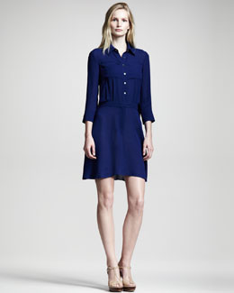 10 Crosby Derek Lam Silk-Blend Shirtdress
