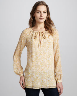 Tory Burch Sophie Tie-Neck Tunic