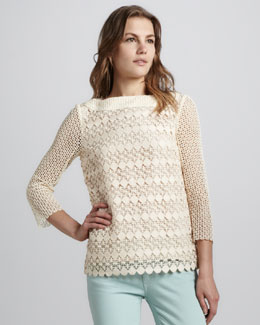 Tory Burch Charlotte Crochet Top