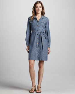 Tory Burch Cora Chambray Shirtdress