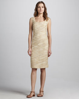 Tory Burch Lexi Fitted Tweed Dress