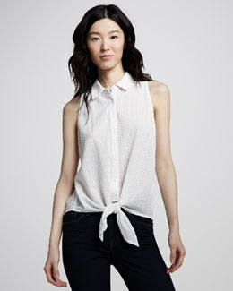 Equipment Wall Eyelet Mino Tie-Front Top