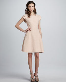 Theyskens' Theory Dabor Square-Neck Linen-Cotton Dress