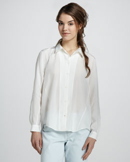 Theyskens' Theory Fietra Sheer Blouse