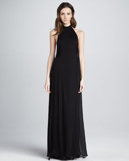Theyskens' Theory Daller Halter Maxi Dress