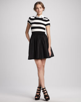 Alice + Olivia Laurelle Striped Shirtdress