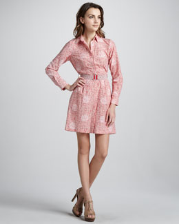 MARC by Marc Jacobs Jamie Dot Printed Shirtdress
