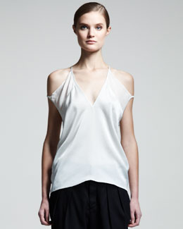 Helmut Lang Chroma Draped Top