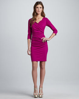 Diane von Furstenberg Bentley Ruched Short Dress