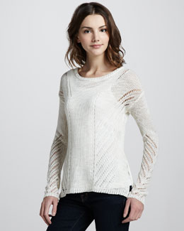 Elizabeth and James Downtown Loose-Knit Pullover, Ivory