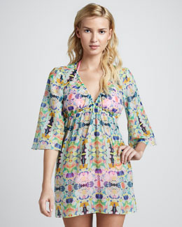 Milly Kaleidoscope Palmas Printed Dress