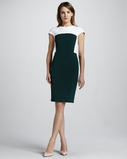 Theory New Recovery Two-Tone Dress, Julep