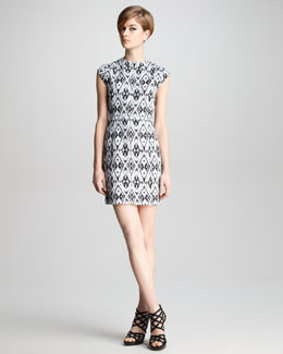 Theory Andes Printed Silk Dress