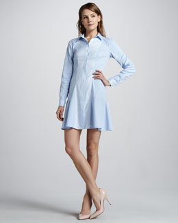 Theory Mareb Flared Shirtdress