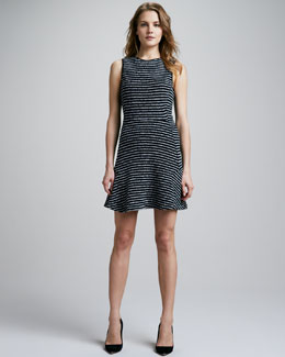 Theory Nikay Striped Flare Dress
