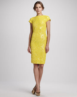 Alice + Olivia Taryn Beaded Fitted Dress
