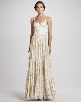 Alice + Olivia Yarra Bustier Maxi Dress
