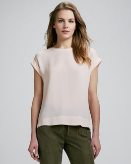 Theory Saleeya Loose Crepe Top