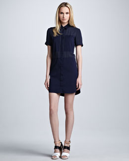 Theory Luxe Crepe Shirtdress