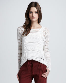 Theory Sag Harbor Wide-Stitch Sweater