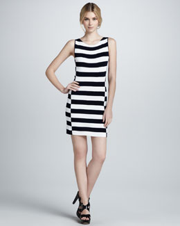 Theory Dasher Striped Sleeveless Dress