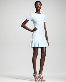 Opening Ceremony Wesson Textured Jersey Dress