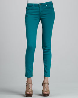 AG Adriano Goldschmied Denim Ankle Leggings, Bermuda Green