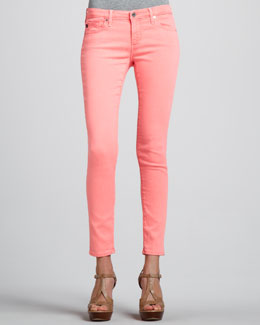 AG Adriano Goldschmied Denim Ankle Leggings, Flamingo