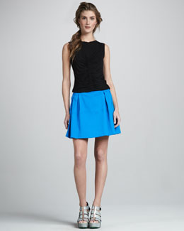 Nanette Lepore Valley Twill Skirt